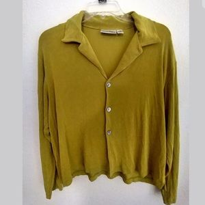 Private edition by chicos green cardigan size 2